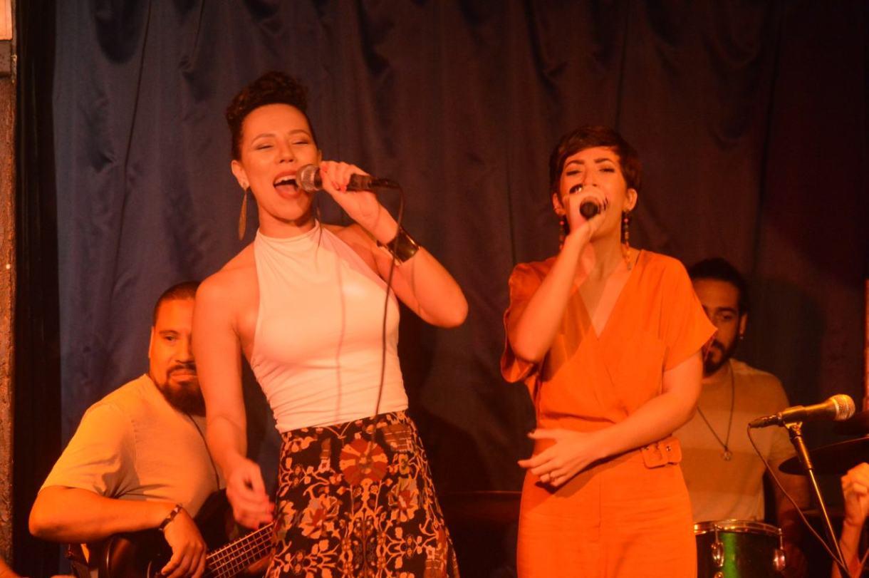 Nay Duarte, do Filhos de Sá, e Suzana Morales no Little Club