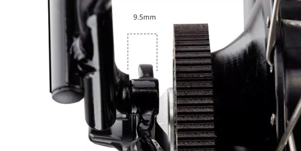 Width of Rear Rack attachment is 9.5mm