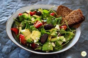 Salada rica em fibras