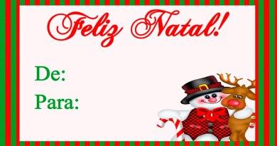 Natal – Kit Para Imprimir Grátis