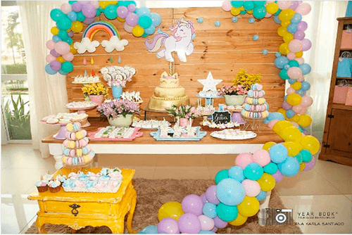 decoração de unicornio para aniversario