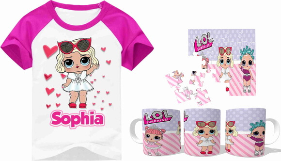 63bc01b3a0 Kit Camiseta + caneca + Quebra-Cabeça Lol Surprise Loja Elo7 VISUARTE  PRODUTOS PERSONALIZADOS
