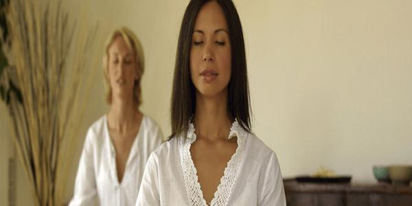 Exercicios de respiração com meditação