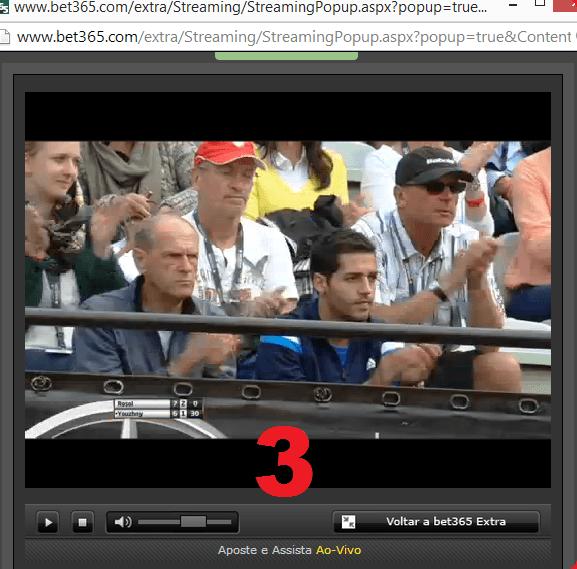Streaming da bet365 - Passo 3