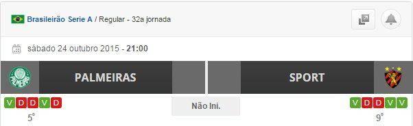 topo Palmeiras vs Sport de Recife