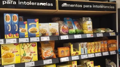 Gluten-free products in supermarkets