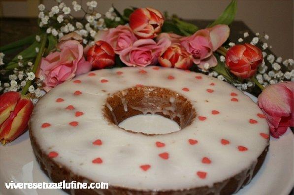 Gluten-free glazed cream donut