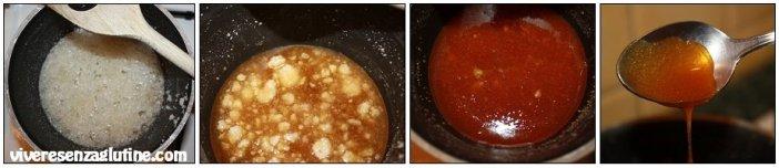 Quadrotti agrumi e caramello senza glutine