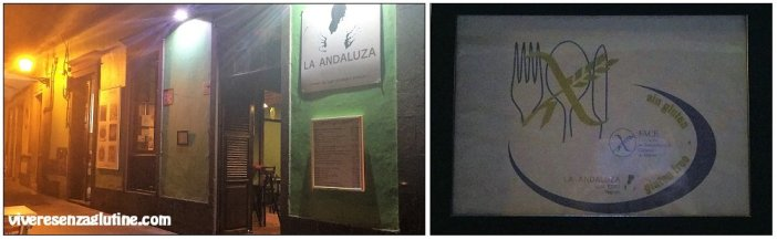 La Andaluza Low Cost Vegueta with gluten-free menu