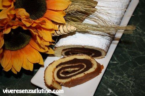 Rotolo al cioccolato e arancia senza glutine
