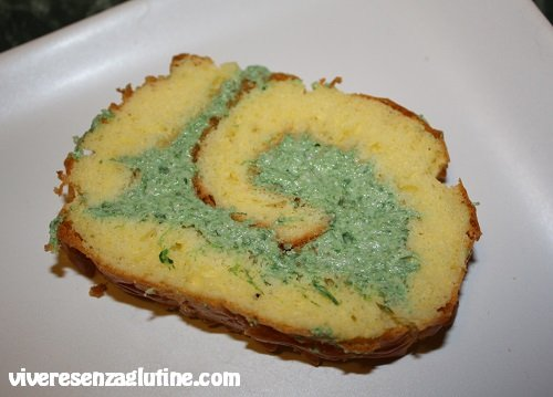 Gluten-free savory roll with ricotta cheese and spinach