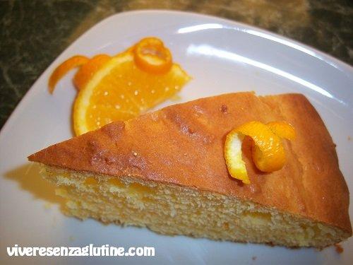 Torta all'arancia senza glutine