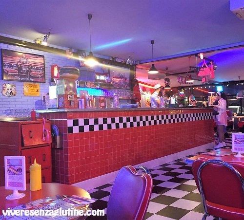 1950 American Diner con menù senza glutine