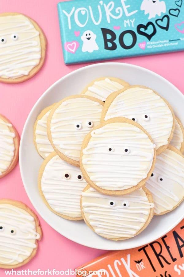 gluten free mummy cookies for halloween
