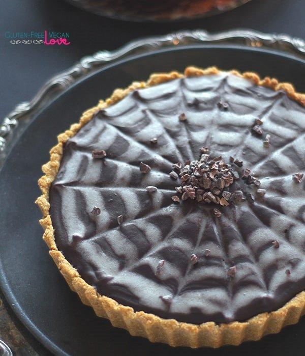 Chocolate Pumpkin Tart Gluten-freeVegan Paleo