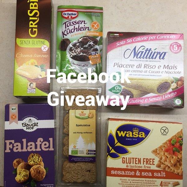 Giveaway senza glutine su Facebook