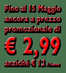 Prezzo promozionale € 2,99