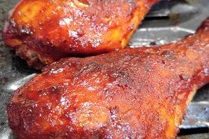 Gluten Free Baked BBQ Chicken Drumsticks