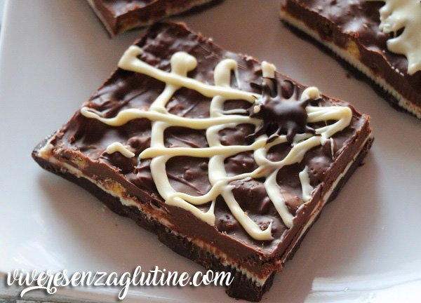 Gluten-free Halloween layered chocolate