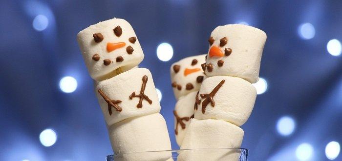 pupazzi di neve di marshmallow senza glutine