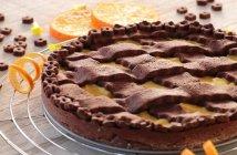 Crostata al cacao con crema all'arancia senza glutine