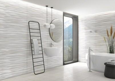 CHAMAREL:Wave-R PCafé - 32X99cm | Revestimiento | VIVES Azulejos y Gres S.A. #curves #tile #bathroom