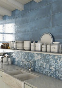 LATERZA: Laterza Azul, Nevers Azul 25x75cm. | VIVES Azulejos y Gres S.A.