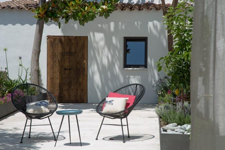 decoración patio en Verano