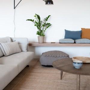 salon con alfombra moderna