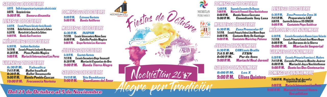 Programa de Fiestas de Octubre 2017