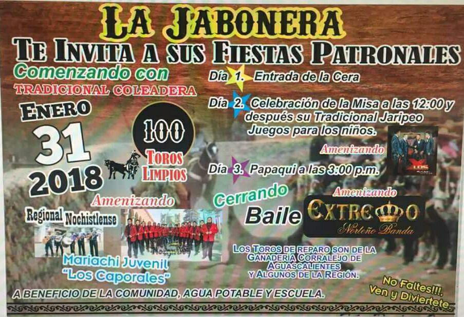 Programa de Fiestas en La Jabonera
