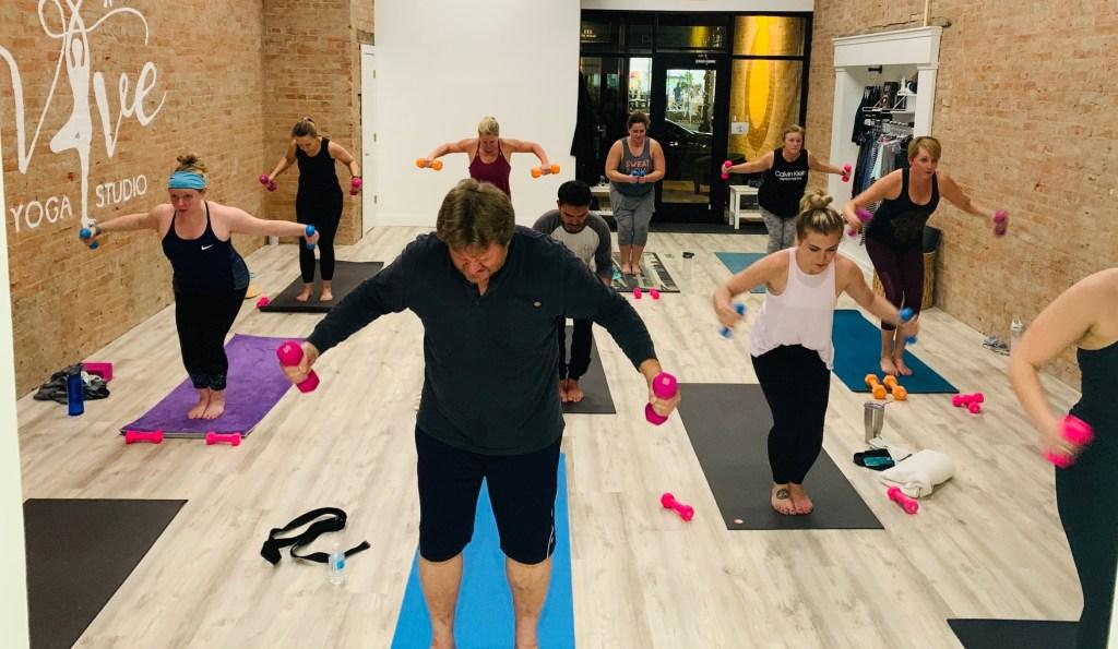 Yoga sculpt class for a full body workout