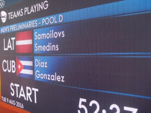 Latvia vs Cuba beach volley