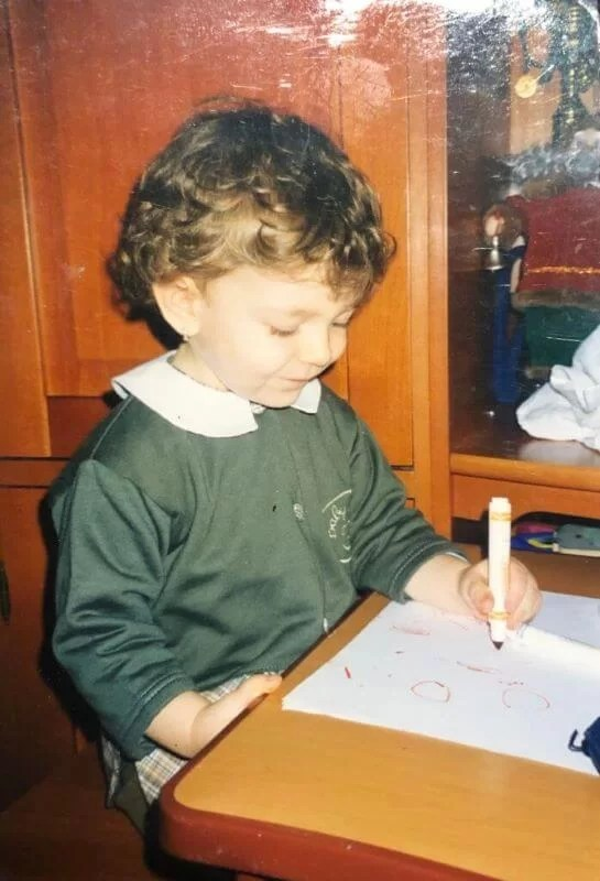 Trying to write at a very early age.