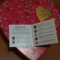 Godiva Chocolates Heart-Shaped Box