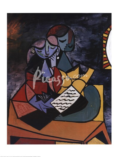 Tranh Picasso - Girls studying together