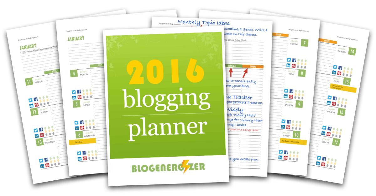 Descarga este planificador 2016 para tu blog