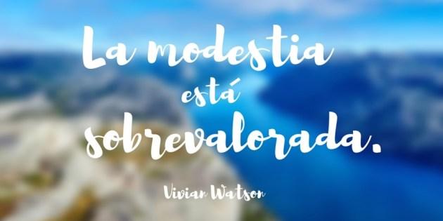 Modestia y emprendimiento