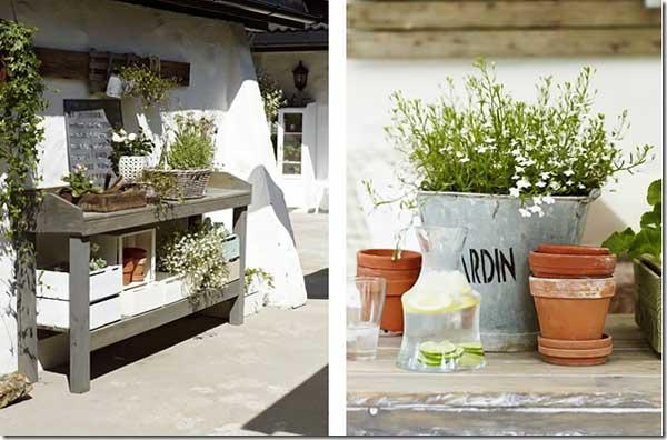 Come arredare il giardino in stile shabby chic viviconstile for Arredamento ristorante shabby chic