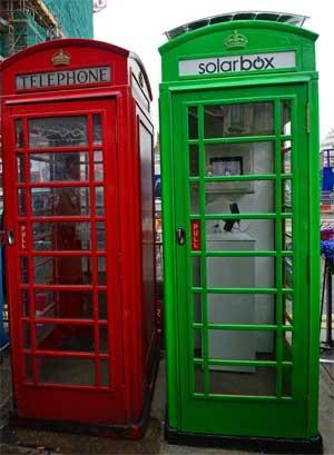 La cabina telefonica di Londra diventa solare