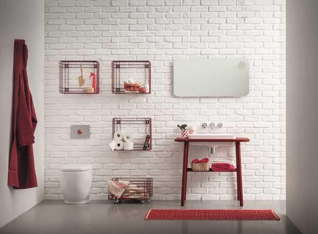 Arredare con stile un piccolo bagno di servizio e la lavanderia ...