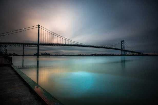 Ambassador Bridge - Winter Long Exposure