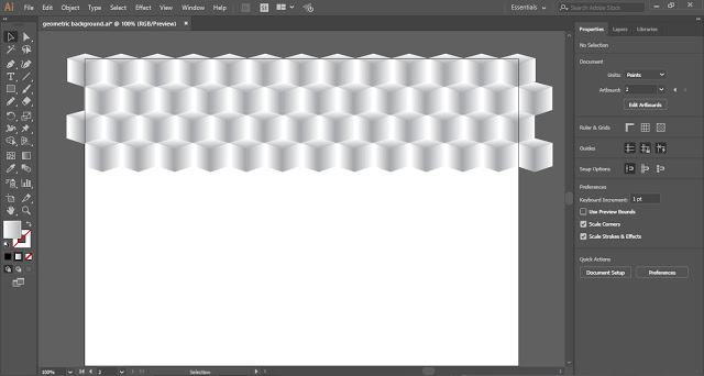 create duplicate copies to fill the background of the artboard