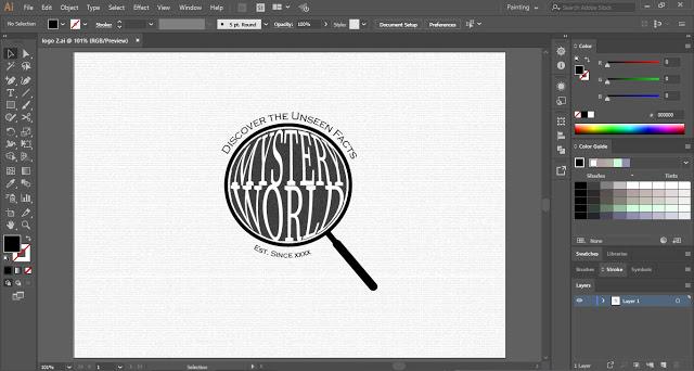 Spyglass Logo Design in Adobe Illustrator