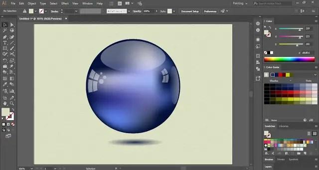 Glossy Sphere on Adobe Illustrator