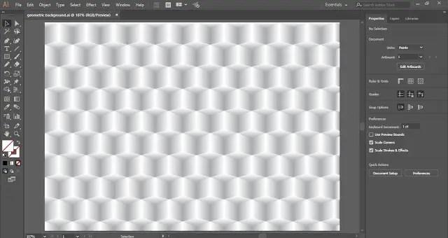 Geometric Background in Adobe Illustrator