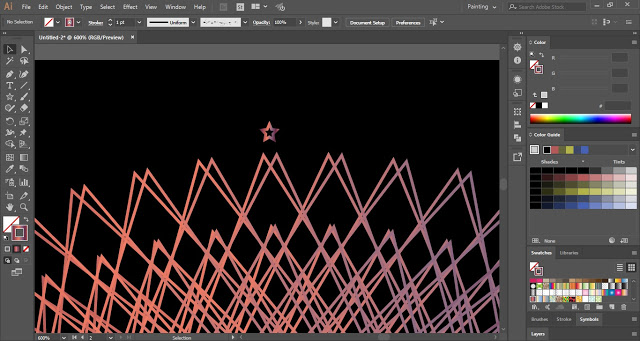 Draw small star shape with the help of the Star Tool