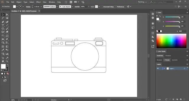 draw camera lens