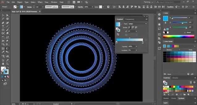 Fill Color in Geometric Logo