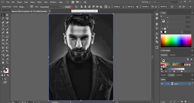 Illusion Effect on Image in Adobe Illustrator